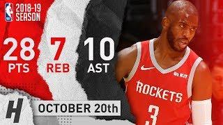 Chris Paul Full Highlights Rockets vs Lakers 2018.10.20 - 28 Pts, 10 Ast, 7 Reb