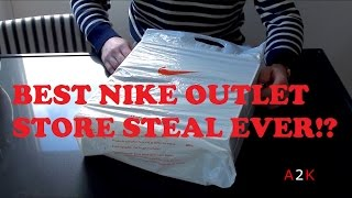 Is this the BEST NIKE OUTLET STORE STEAL EVER!? It certainly is my personal best steal ever! The price of these was simply INSANE! Drop a LIKE if you enjoyed...