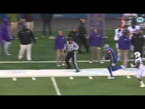 Play Of The Day: Kansas' Nigel King's Incredible Touchdown Catch | CampusInsiders (видео)