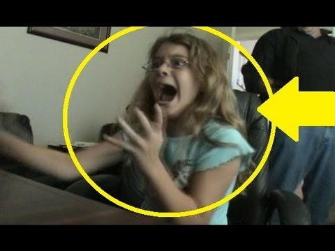 Best scary maze game prank -she has a funny reaction caught on video!