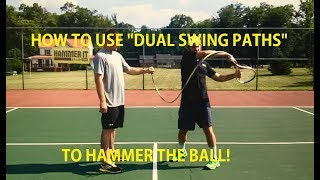 In this video, Hammer It Tennis Creator, Coach Daniel shows you how the swing path of the racquet is dictated by Dual Paths that combine to create one fluid motion.