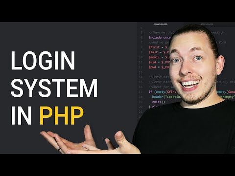 How To Create A Login System In PHP For Beginners | Procedural MySQLi | 2018 PHP Tutorial | mmtuts