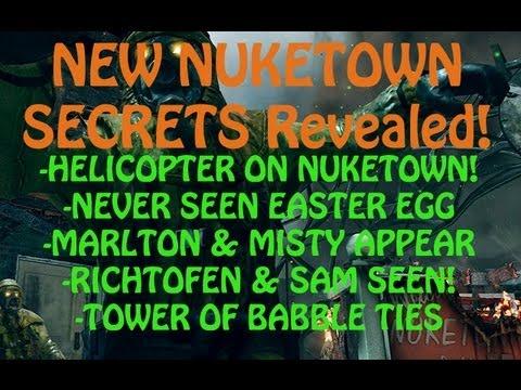 NEW NUKETOWN ZOMBIES EASTER EGGS & SECRETS (Helicopter, Marlton, Richtofen, Bunker)