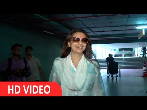 Juhi Chawla Spotted At International Airport