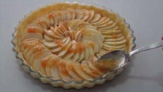 Modo tradicional de la tarta de manzanas al estilo francés