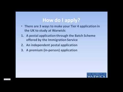 Applying from UK – How to make a Tier 4 application in the UK?