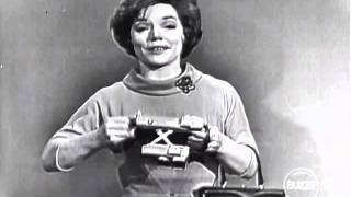 """Actress and singer Denise Lor tells us about the new Polaroid 10-second automatic camera in this live-to-air commercial that appeared on a 1961 episode of """"I've Got a Secret"""". Garry Moore introduces and Henry Morgan is photographed."""