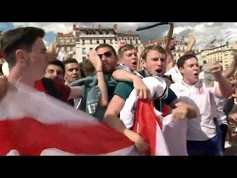 Λυών: Οι πανηγυρισμοί των Άγγλων για την πρώτη τους νίκη στο Euro 2016