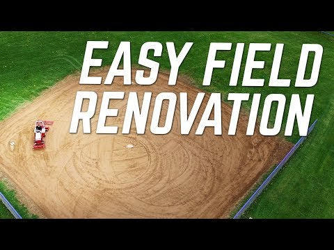 Renovating an Overgrown Baseball Field With Tractor