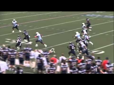 Jaquiski Tartt pick-six vs The Citadel 2012 video.