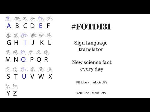 #FOTD131 Sign Language