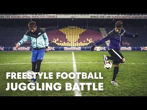 juggling - Click CC for captions! Neymar Jr., forward at FC Barcelona, takes on 15-year-old Hachim Mastour, from AC Milan, in a spectacular challenge. The Brazilian sup...