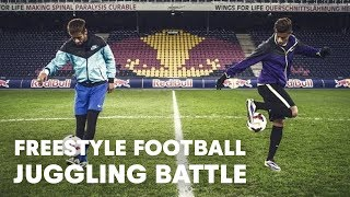 Hachim Mastour vs. Neymar Jr | Freestyle football juggling battle