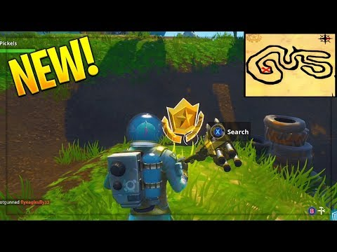 Follow the treasure map found in Salty Springs! Fortnite Week 3 Challenge! (Fortnite Battle Royale)