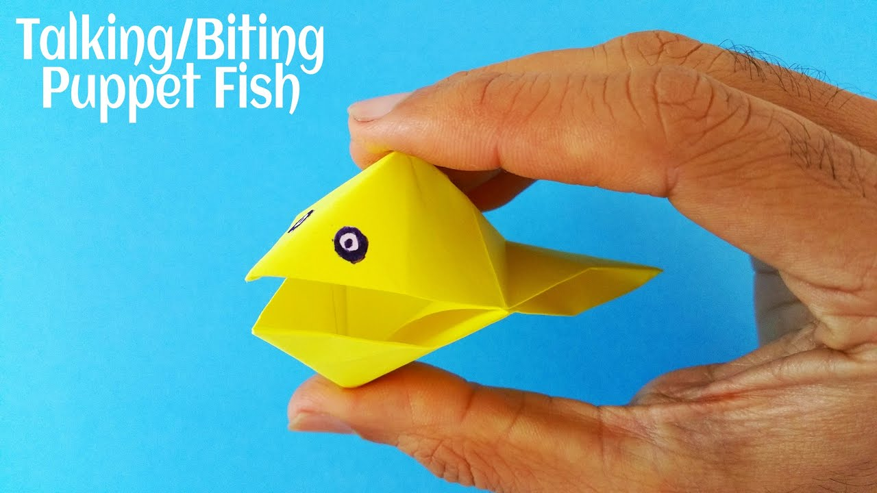 Action paperfolds origami arts and crafts origami paper talking biting puppet fish my childhood models jeuxipadfo Choice Image