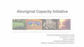 TGDG Presents: Government for consultation in Aboriginal capacity initiatives in Ontario (6 of 7)