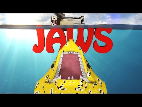 Minecraft | LUCKY BLOCK BOSS CHALLENGE – JAWS SHARK ATTACK! (Sharks, Great White Shark)