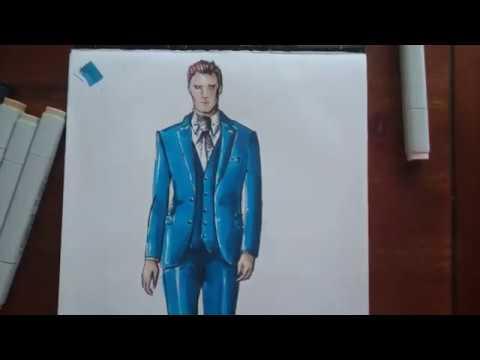 Costume homme sur mesure - croquis de mode