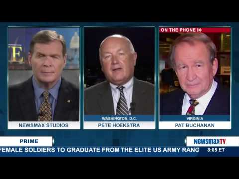 Newsmax Prime | Pat Buchanan and Pete Hoekstra discuss Hillary Clinton's continuing email scandal