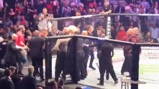 Video UFC 229 BEST ANGLE ON CAGE BRAWL 😱 (Conor vs Khabib) MP3, 3GP, MP4, WEBM, AVI, FLV Oktober 2018