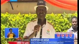 Kinara wa NASA Raila Odinga azua eneo wa Tharaka Nithi akipiga kampeini za NASA KTN News Live Stream SUBSCRIBE to...