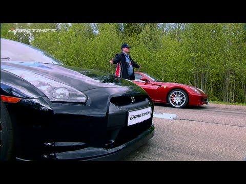 Ferrari 599 Fiorano vs Nissan GT-R, Ferrari 458 Italia, Porsche 911 Turbo, BMW M3