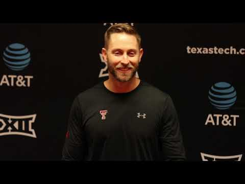 Kliff Kingsbury following the win over Oklahoma State