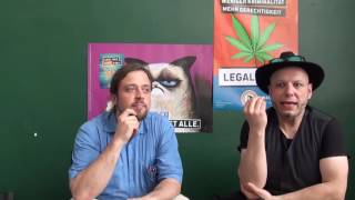 Interview with Piraten Partei at Mary Jane Berlin 2016