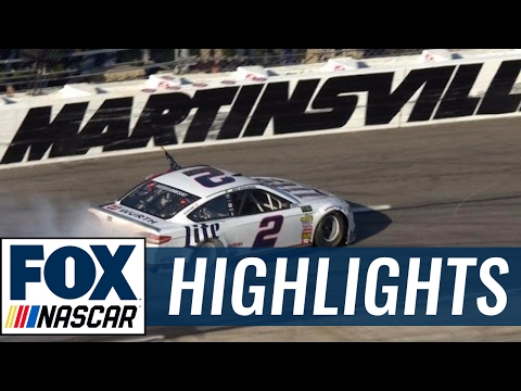 nascar 2017 - brad keselowski wins in martinsville - highlights