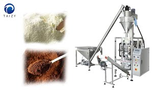 Plantain flour packing machine | Automatic collar type vertical packing machine for powder youtube video