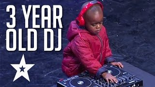 3 Year Old Dj Has The Crowd On Their Feet   Got Talent Global