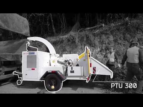 Picador / triturador de troncos e galhos Lippel -  PTU 300 - Limpeza Urbana
