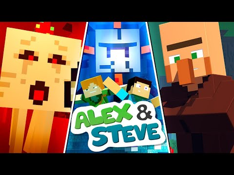 The Minecraft Life of Alex and Steve | MOVIE 1 | Minecraft Animation