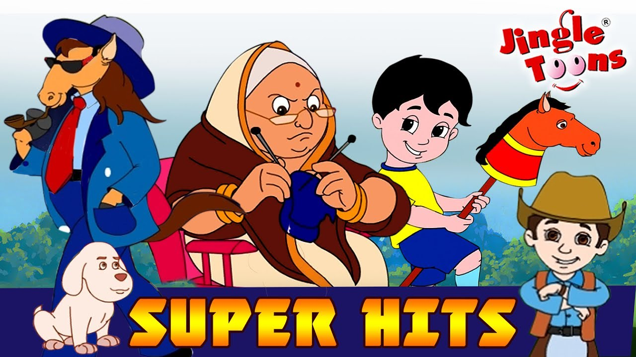 JingleToons Super Hits सुपर हिट| Lakadi Ki Kathi|Nani Teri Morani|Re Mama|Rail Gadi|
