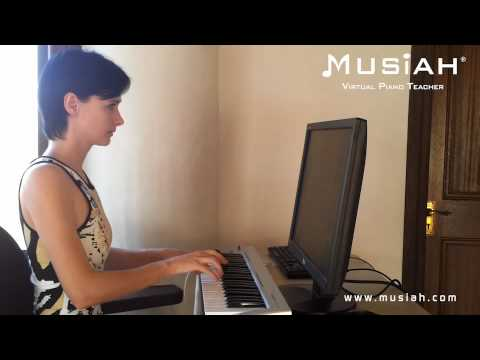 Piano Video: Online Piano Lessons Song #117 Celtic Sunrise played by Kristina