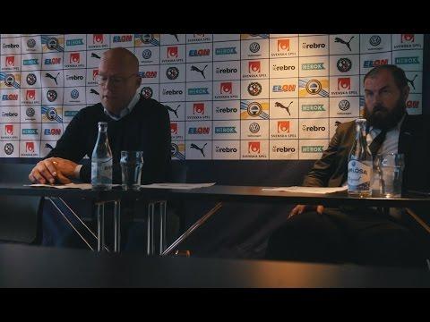 Presskonferens med Alexander Axén och Joel Cedergren