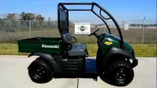 6. Pre Owned 2012 Kawasaki Mule 600 4X2 Woodsman Green Overview Walk Around