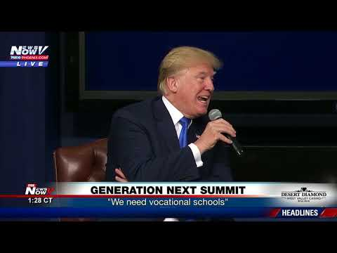 GENERATION NEXT SUMMIT: President Trump participates in panel discussion (FNN)
