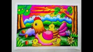 Download Video Cara Mewarnai Gradasi Dengan Crayon/Oilpastel : Chicken MP3 3GP MP4