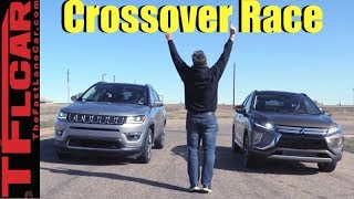 Not Even Close! Mitsubishi Eclipse Cross vs Jeep Compass Leisurely Drag Race by The Fast Lane Car