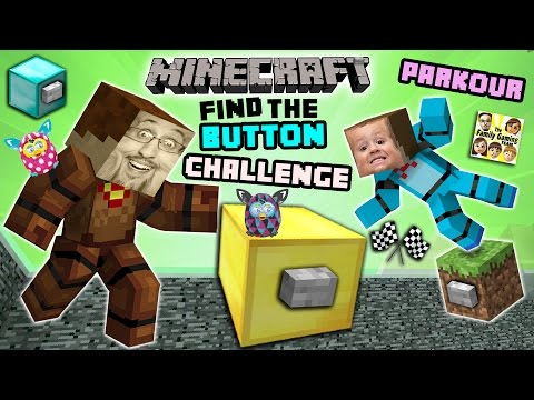 Minecraft FIND the BUTTON CHALLENGE!  Duddy & Chase Race, Cheat, Fight & Parkour! (FGTEEV Battle) (видео)