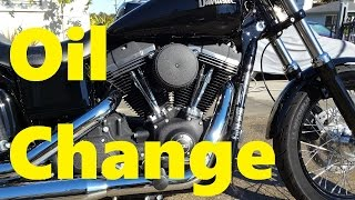 7. 500 Mile Oil Change - 2015 Dyna Street Bob FXDB