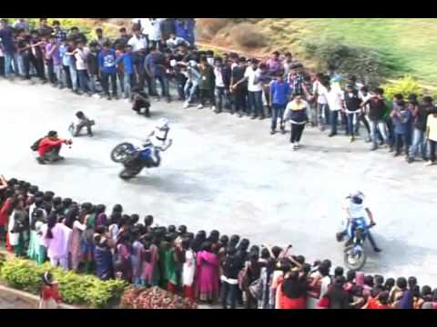 AJK - Ajkcas- Bike Stunt - Zebicom 2014 Organized by Dept of Commerce,Ajk College of Arts and Science,Coimbatore.