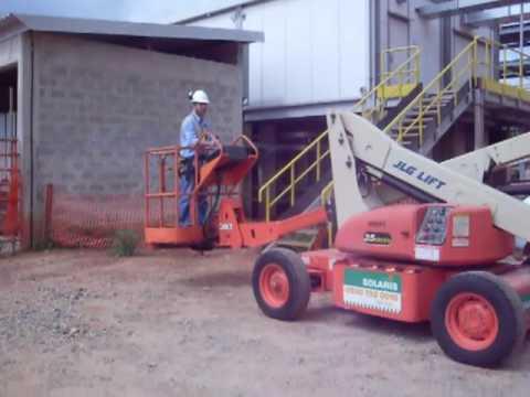 Plataforma Movel - Canteiro de Obras Automation Solutions Mineraçao Onça Puma, Teste de Plataforma Elevatória.