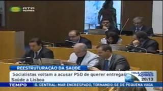 O líder da bancada socialista, Berto Messias, acusa PSD de querer entregar Saúde a Lisboa. Telejornal RTP Açores - 3 de setembro de 2013