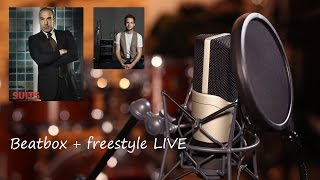 Patrick J Adams (Mike Ross) drops the beat and Rick Hoffman (Louis Litt) starts freestyle - LIVE from Interview in 2015
