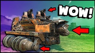 Crossout - NEW CERBERUS CAB, JUNKBOW, MEAT GRINDER WHEEL, Bat Cab, Wheel Shiv & Harpoon! New Update!