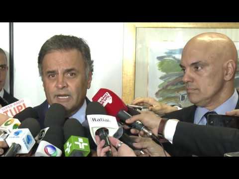 Coletiva senador Aécio Neves – Combate à corrupção