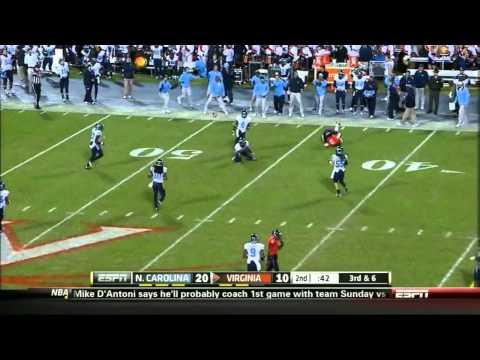 Morgan Moses vs North Carolina 2012 video.