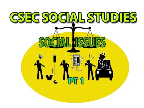 Social Issues pt1 (CSEC Lecture Series)